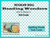 Reading Wonders Unit 2, Week 5 Spelling Task Cards