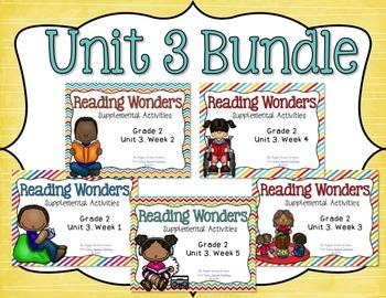 Reading Wonders Unit 3 BUNDLE for 2nd Grade