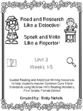 1st Grade Reading Wonders Unit 3 COMBO Guided Reading & An