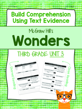 Third Grade Reading Wonders (Unit 3) Close Read Graphic Organizers