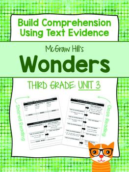 Third Grade Reading Wonders (Unit 3) Close Read Graphic Organizers