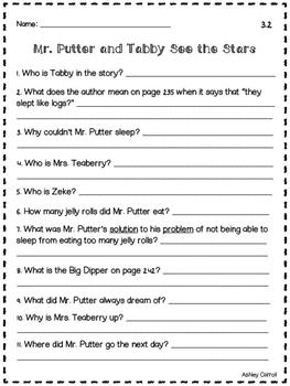 Reading Wonders Unit 3 Comprehension Pages Grade 2