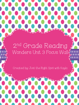 Reading Wonders Unit 3 Focus Wall and Anchor Charts