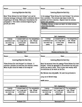 Reading Wonders Unit 3 Grade 3 Objective Checks