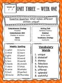 Reading Wonders Unit 3 Review / Parent Guides