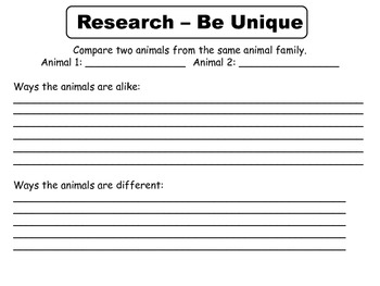 Reading Wonders Unit 3 Week 1 Research Project Template - Third Grade