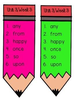 Reading Wonders Unit 3 Week 3 Pencil Pairs ***WITH 45 BONUS PAGES***