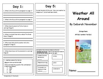 Reading Wonders Unit 3 Week 4 Leveled Reader Brochures