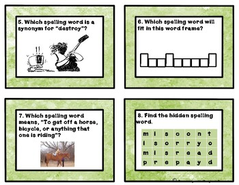 Reading Wonders Unit 3 Week 4 Spelling Task Cards