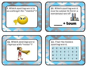 Reading Wonders Unit 3 Week 5 Spelling Task Cards