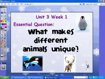 Reading Wonders Unit 3 Week1 Flipchart for 3rd Grade