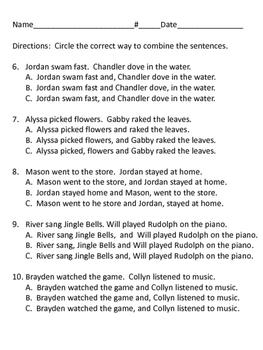 Reading Wonders Unit 3 week 5 Grammar Test