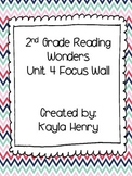 Reading Wonders Unit 4 2nd Grade Focus Wall Headers and Anchor Charts