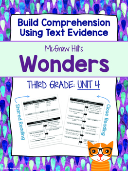 Third Grade Reading Wonders (Unit 4) Close Read Graphic Or