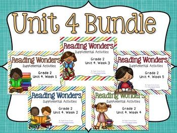Reading Wonders Unit 4 BUNDLE for 2nd Grade