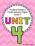 Reading Wonders Unit 4 Comprehension Pages Grade 2
