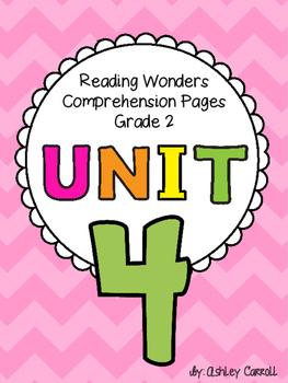 Reading Wonders Unit 4 Comprehension Pages Grade 2
