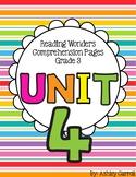 Reading Wonders Unit 4 Comprehension Pages Grade 3