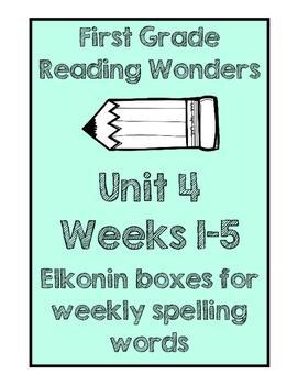 Reading Wonders Unit 4 Elkonin Box Practice