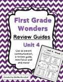 Reading Wonders Unit 4 Weekly Review / Parent Guides