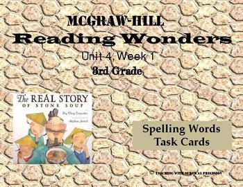 Reading Wonders Unit 4 Week 1 Spelling Task Cards