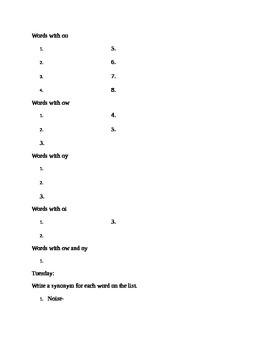 Reading Wonders Unit 4, Week 4 Spelling