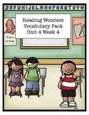Reading Wonders Unit 4 Week 4 Vocabulary Pack