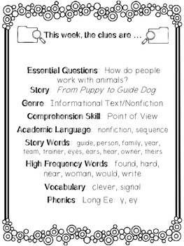1st Grade Reading Wonders Unit 4 Week 5 Guided Reading & Analytical Writing Pack