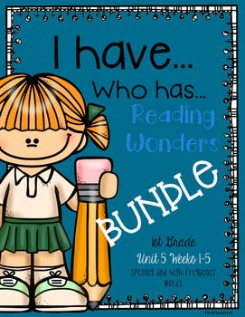 Reading Wonders Unit 5 BUNDLE: I have, Who has?