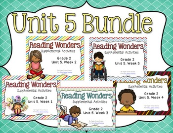 Reading Wonders Unit 5 BUNDLE for 2nd Grade