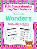 Third Grade Reading Wonders (Unit 5) Close Read Graphic Organizers
