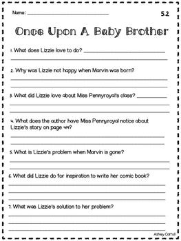 Reading Wonders Unit 5 Comprehension Pages Grade 2