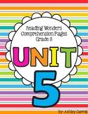 Reading Wonders Unit 5 Comprehension Pages Grade 3