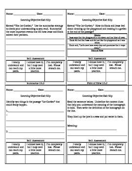 Reading Wonders Unit 5 Grade 3 Objective Checks