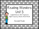 Reading Wonders Unit 5 High-Frequency Words Word Work and Comprehension