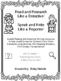1st Grade Reading Wonders Unit 5 Week 1 Guided Reading & A