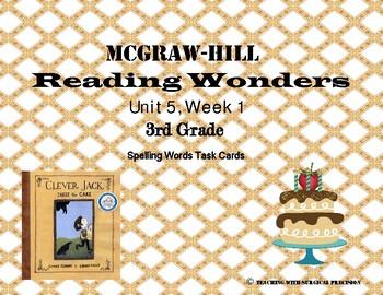 Reading Wonders Unit 5 Week 1 Spelling Task Cards