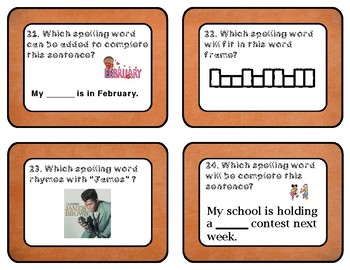 Reading Wonders Unit 5 Week 2 Spelling Task Cards