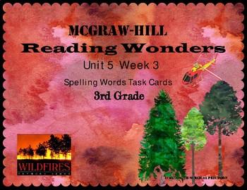 Reading Wonders Unit 5 Week 3 Spelling Task Cards