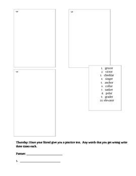 Reading Wonders Unit 5, Week 4 Approaching Spelling