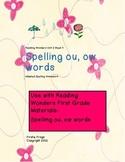Reading Wonders Unit 5 Week 4 First Grade Adapted Spelling List and Homework