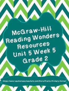 Reading Wonders Unit 5 Week 5 Activities Grade 2