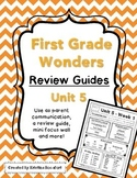 Reading Wonders Unit 5 Weekly Review / Parent Guides