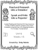 1st Grade Reading Wonders Unit 6 COMBO Guided Reading & Analytical Writing Pack
