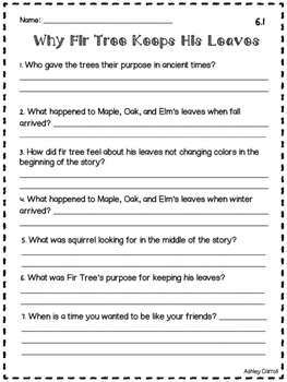 Reading Wonders Unit 6 Comprehension Pages Grade 2