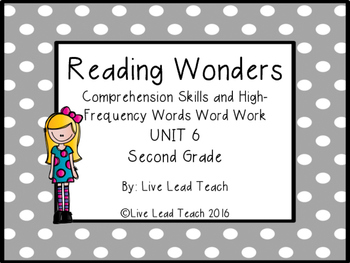 Reading Wonders Unit 6 High-Frequency Words Word Work and