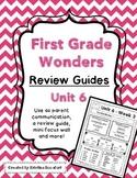 Reading Wonders Unit 6 Review / Parent Guides