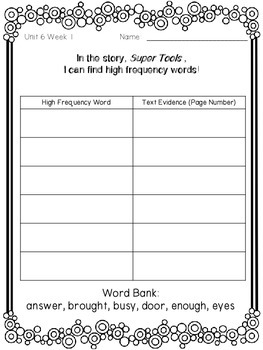 1st Grade Reading Wonders Unit 6 Week 1 Guided Reading & Analytical Writing Pack