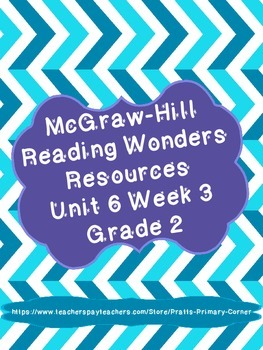 Reading Wonders Unit 6 Week 3 Activities 2nd Grade