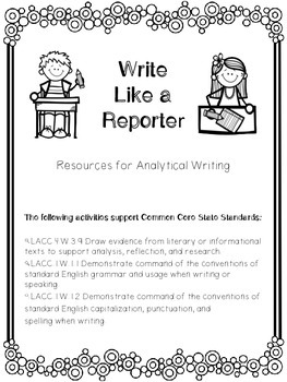 1st Grade Reading Wonders Unit 6 Week 4 Guided Reading & Analytical Writing Pack